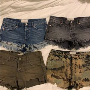 free people cutoff shorts bundle